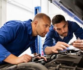 Overhaul the car Stock Photo