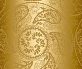 Paisley pattern golden vector