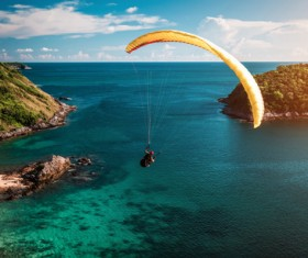 Paragliding sports Stock Photo