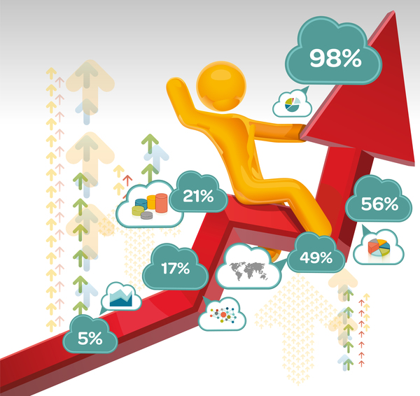 People with infographic creative vectors 01