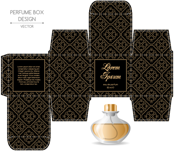 cologne box template perfume box packaging template vectors material 02 free