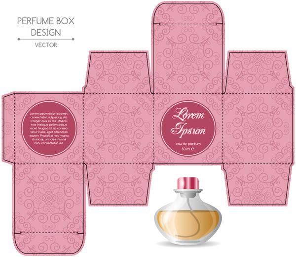 perfume box packaging template vectors material 06 free download