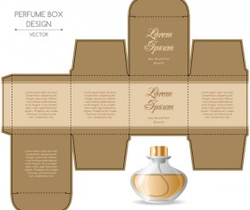 Paper package box design template 02 vector cover free for Cologne box template