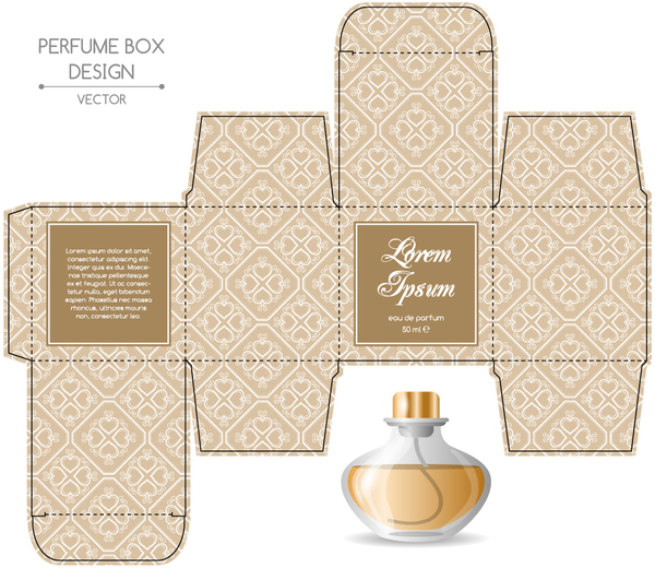 Perfume box packaging template vectors material 10 - Vector Cover ...