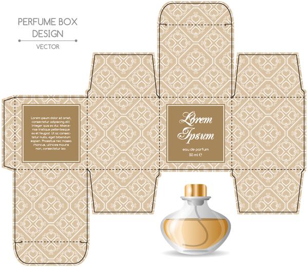 Perfume Box Packaging Template Vectors Material 10