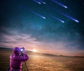 Photography meteor Stock Photo