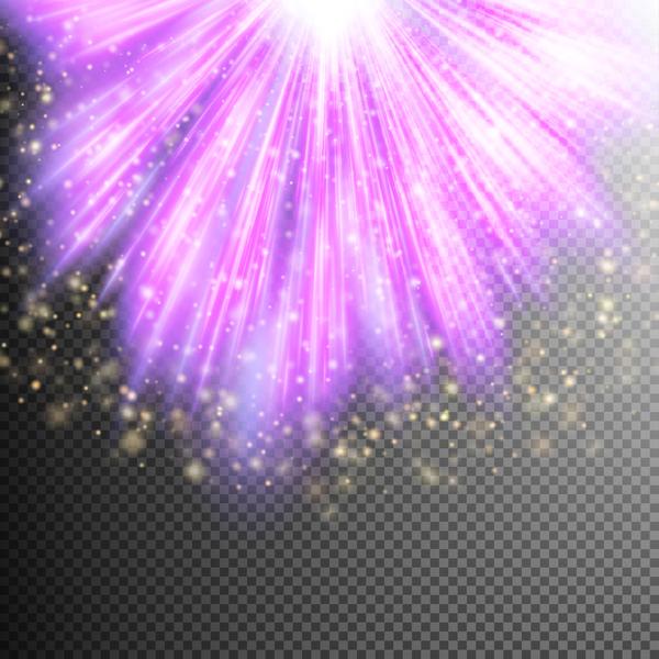 Purple Light rays illustration vector 01