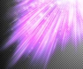 Purple Light rays illustration vector 02