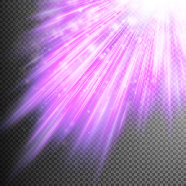 Purple Light rays illustration vector 02
