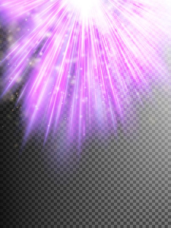 Purple Light rays illustration vector 03