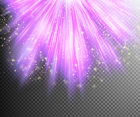 Purple Light rays illustration vector 05
