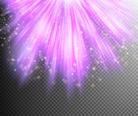 Purple Light rays illustration vector 05
