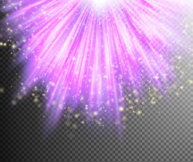 Purple Light rays illustration vector 06