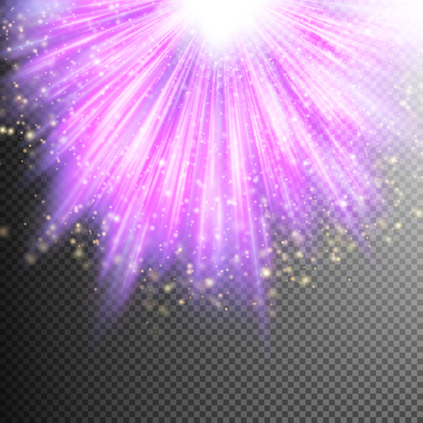 Purple Light rays illustration vector 06
