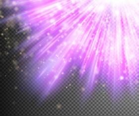 Purple Light rays illustration vector 07