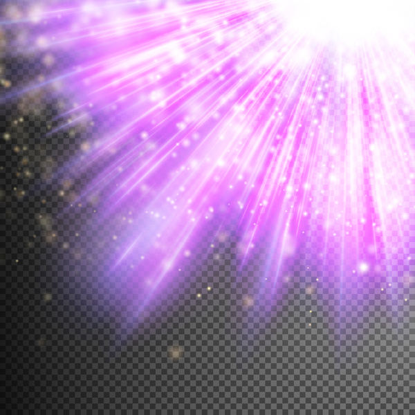 Purple Light rays illustration vector 07