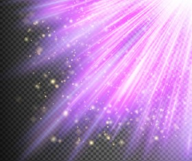 Purple Light rays illustration vector 08
