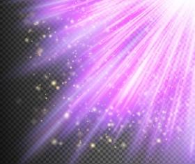 Purple Light rays illustration vector 08