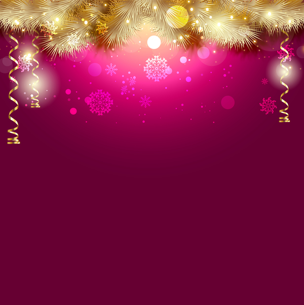 purple christmas background with golden decor vector free download