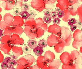 Red ink flowers HD picture