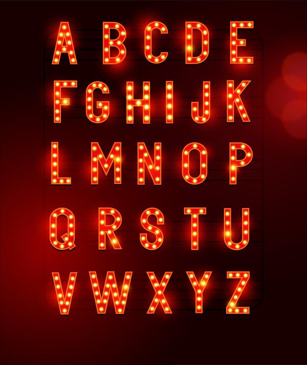 Neon Buchstaben