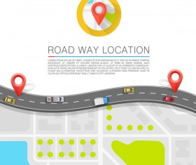 Road way location coordinate infographic vector 10
