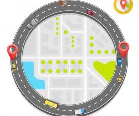 Road way location coordinate infographic vector 13