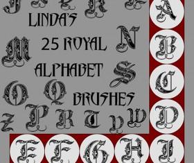 Royal alphabet photoshop brushes