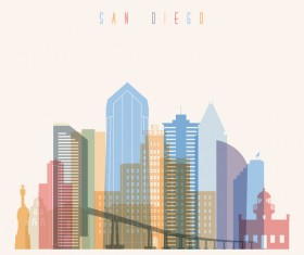San Diego building vector illustration