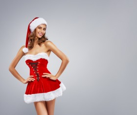 Santa Claus girl Stock Photo 01