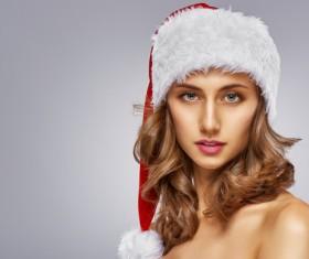 Santa Claus girl Stock Photo 02