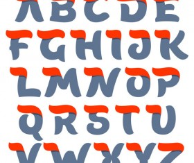 Script alphabet letters vector material