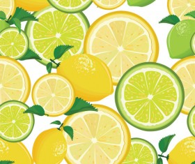 Seamless pattern with lemon and lime vector