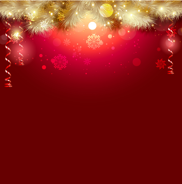 Christmas Background Design.Shiny Christmas Red Background Design Vector 01 Free Download
