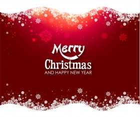 Shiny christmas red background design vector 05