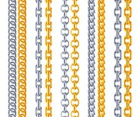 Golden chains vector