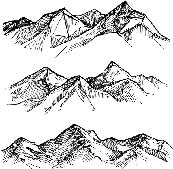 sketch mountains hand drawn vector 03 free download
