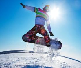 Skiing enthusiasts Stock Photo