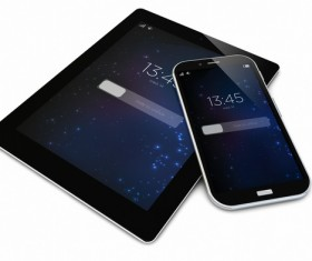 Smart phones and tablets Stock Photo