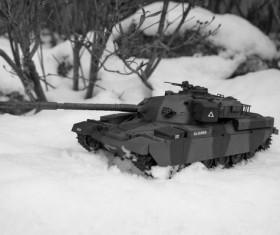 Snow tank Stock Photo