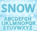 Sonwflake alphabet creative vector
