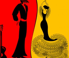 Spanish dance vector material 01