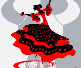 Spanish dance vector material 02
