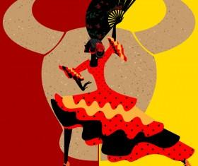 Spanish dance vector material 05
