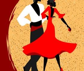 Spanish dance vector material 09