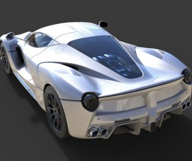 Sports Gray car top detail HD picture