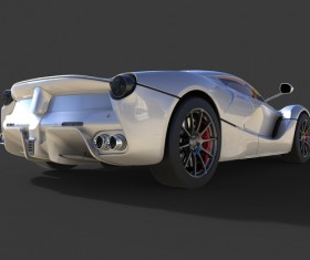 Sports gray car side detail HD picture