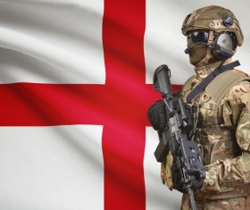 St. George Cross and armed soldiers HD picture