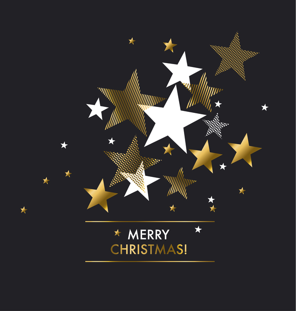 Stars merry christmas background vectors material 01