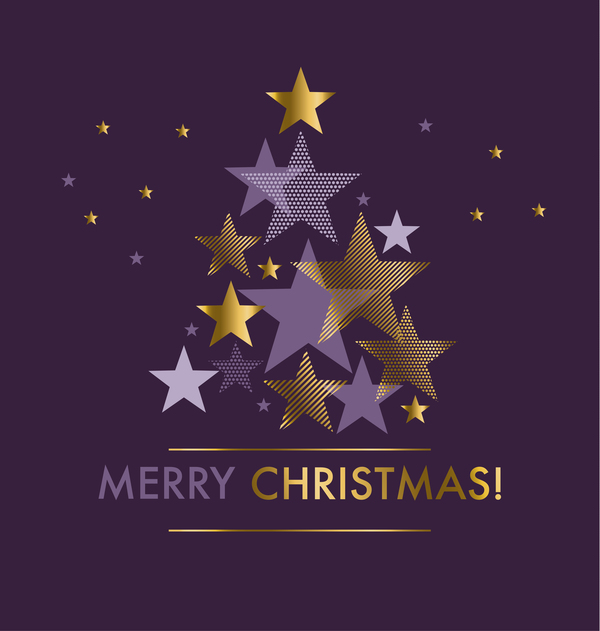 Stars merry christmas background vectors material 03